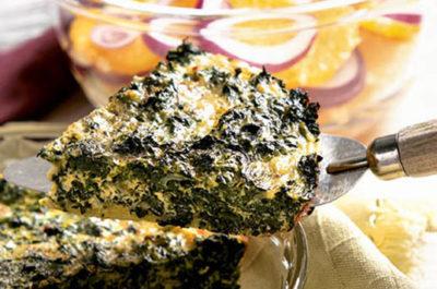 Southeast Dairy Association - crustless spinach quiche