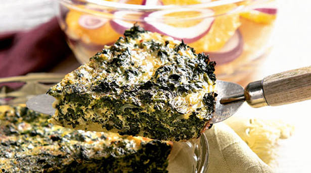 Southeast Dairy Association - crustless spinach quiche
