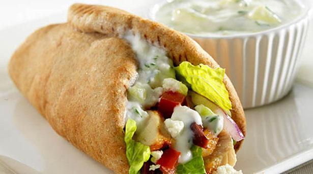 Southeast Dairy Association - greek chicken wrap with tzatziki herb yogurt sauce