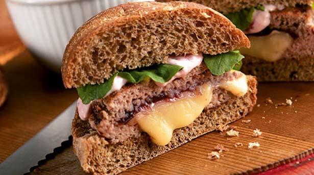 Southeast Dairy Association - harvest stuffed turkey burger