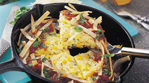 Southeast Dairy Association - southwest corn frittata