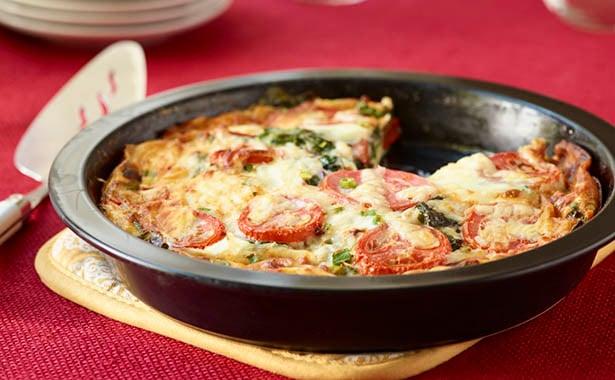 Southeast Dairy Association - Crustless Swiss Chard Tomato Quiche