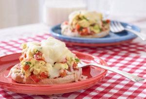 Southeast Dairy Association - Scrambled Egg and Mozzarella Breakfast Pizza