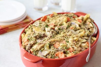 Southeast Dairy Association - Grilled Chicken Cheddar Casserole with Mushrooms