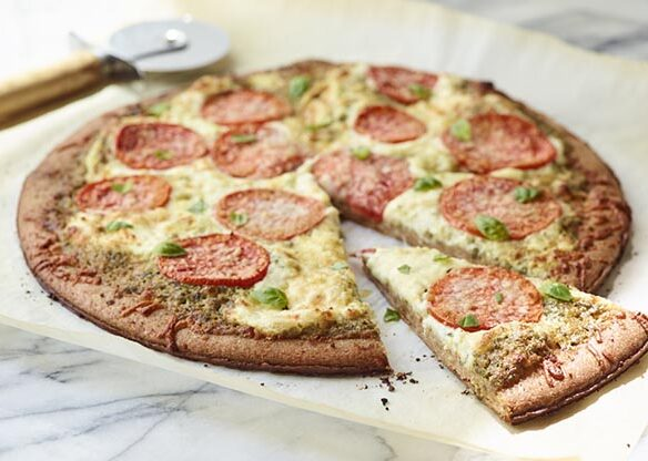 Southeast Dairy Association - Three-Cheese Tomato-Basil Pizza