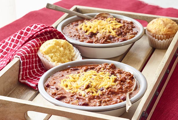 Southeast Dairy Association - South of the Border Chili with Cheesy Corn Muffins