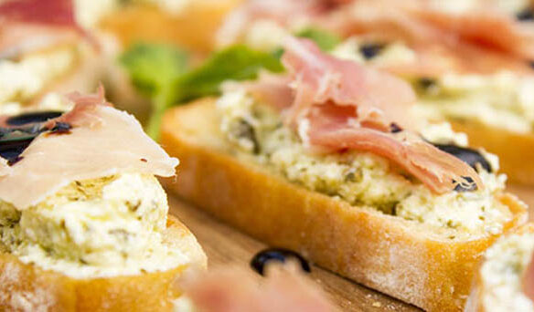 Southeast Dairy Association - ricotta pesto crostini