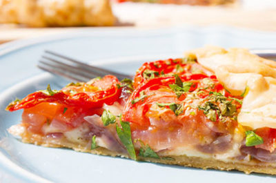 Southeast Dairy Association - rustic tomato and cheese tart