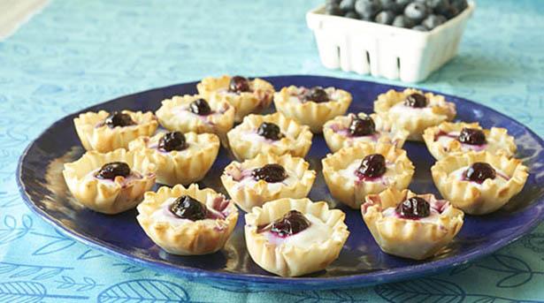 Southeast Dairy Association - blueberry cheesecake tartlets