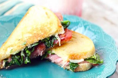 Southeast Dairy Association - broccoli rabe havarti grilled cheese