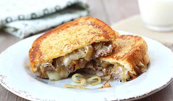 Southeast Dairy Association - roast beef and onion grilled cheese