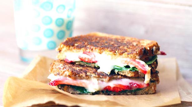 Southeast Dairy Association - strawberry brie grilled cheese