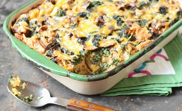 Southeast Dairy Association - Cheese and Spinach Strata