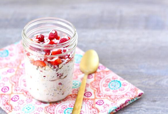 Southeast Dairy Association - Berry Coconut Overnight Oats