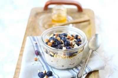 Southeast Dairy Association - Blueberry Flax Overnight Oats