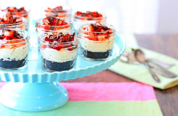 Southeast Dairy Association - Strawberries and Cream Mini Jar Pies