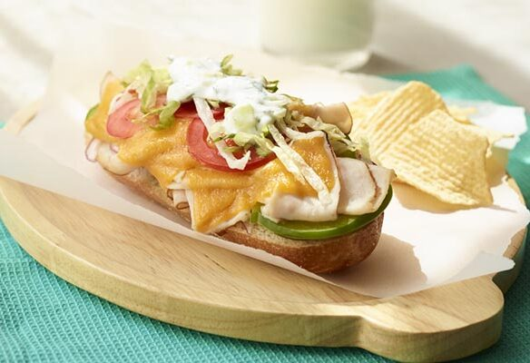 Southeast Dairy Association - Mini Toasted Open Subs with Cucumber-Yogurt Dressing