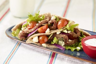 Southeast Dairy Association - Sirloin Pita Salad Sandwich with Herb Yogurt Dressing