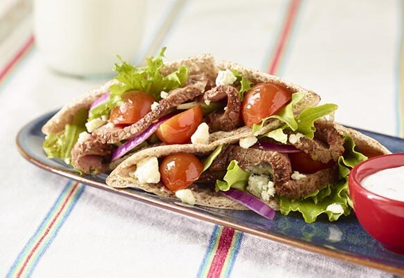 Southeast Dairy Association - Sirloin Pita Salad Sandwich with Herb Yogurt Dressing
