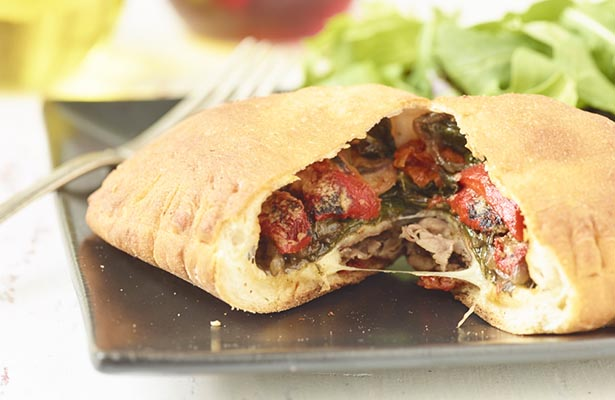 Southeast Dairy Association - Three Cheese Veggie and Beef Calzone
