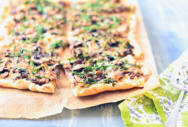 Southeast Dairy Association - Mushroom and Arugula Flatbread